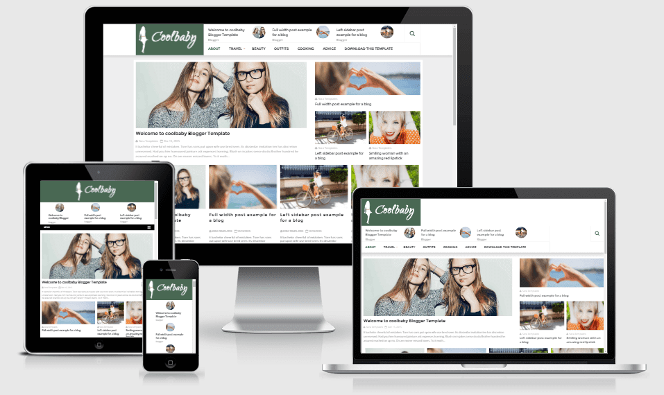 Download CoolBaby New Fashion Blogger Template