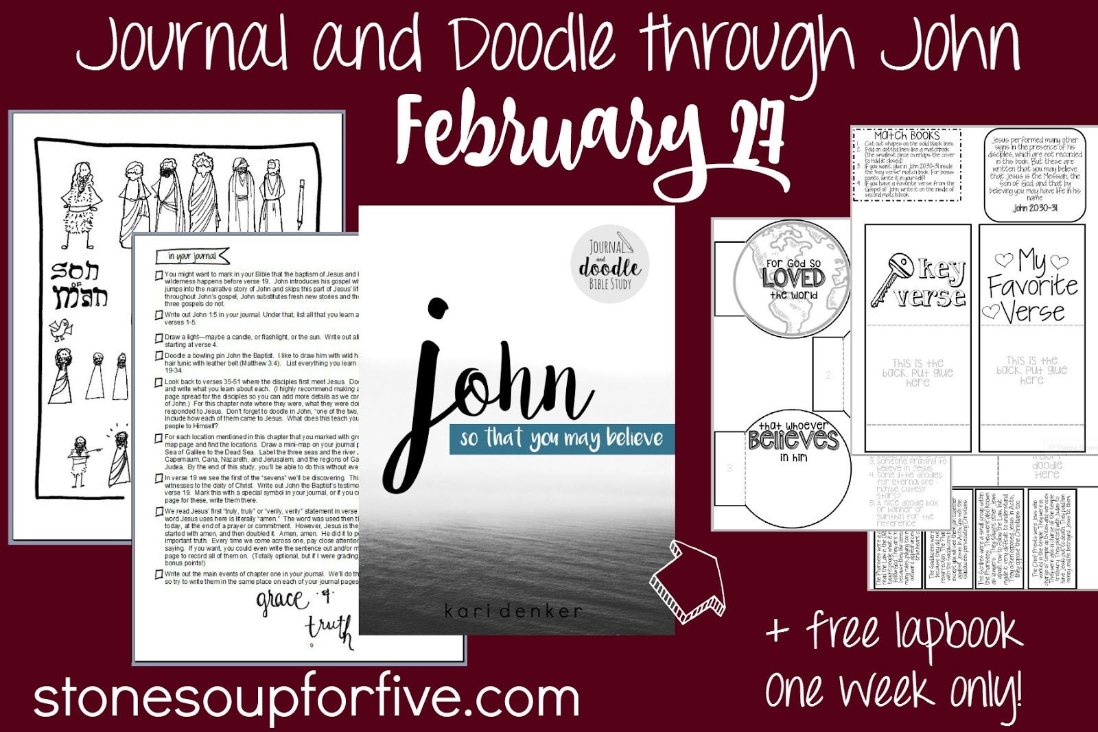 Stone Soup for Five: Coming SOON! Bible study through John with free