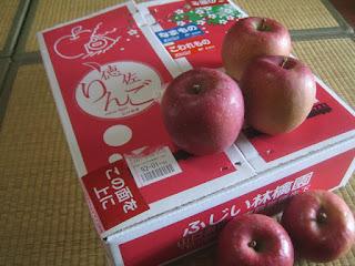 SLやまぐち号のりんごロゴ