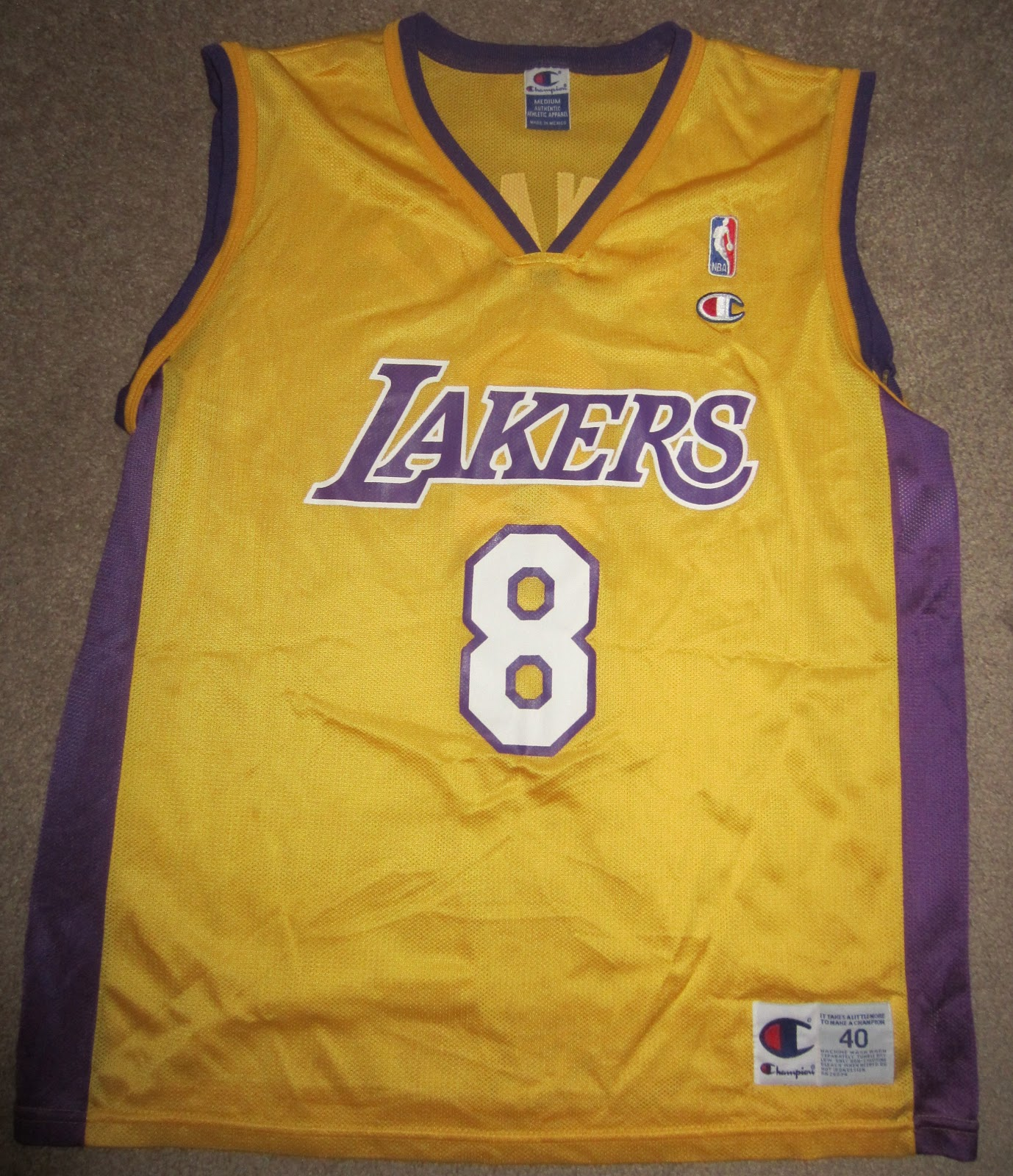 be5d7daa07a5 ... Nba Vintage Kobe Bryant Los Angeles Lakers Champion Jersey Size Medium  40 ...