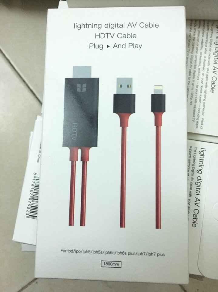 Cáp chuyển đổi Lightning iPhone 5 6 7 iPad Mini sang HDMI