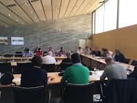 Raül Morales presenta el procés de participació GovernsLocals.cat als alcaldes del Gironès