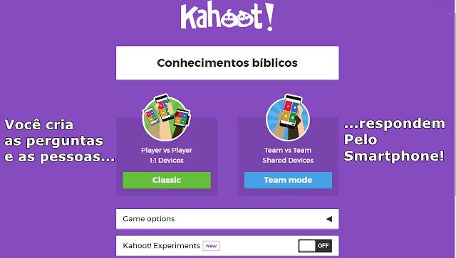 Usando Kahoot para responder com Smartphone