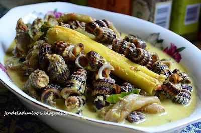 Resep Masakan Manakan Tradisional Gulai Siput khas Tanjung Pinang - Wisata Kuliner