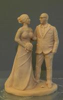 statuette statuine sposi artistiche realizzate a mano da colorare orme magiche
