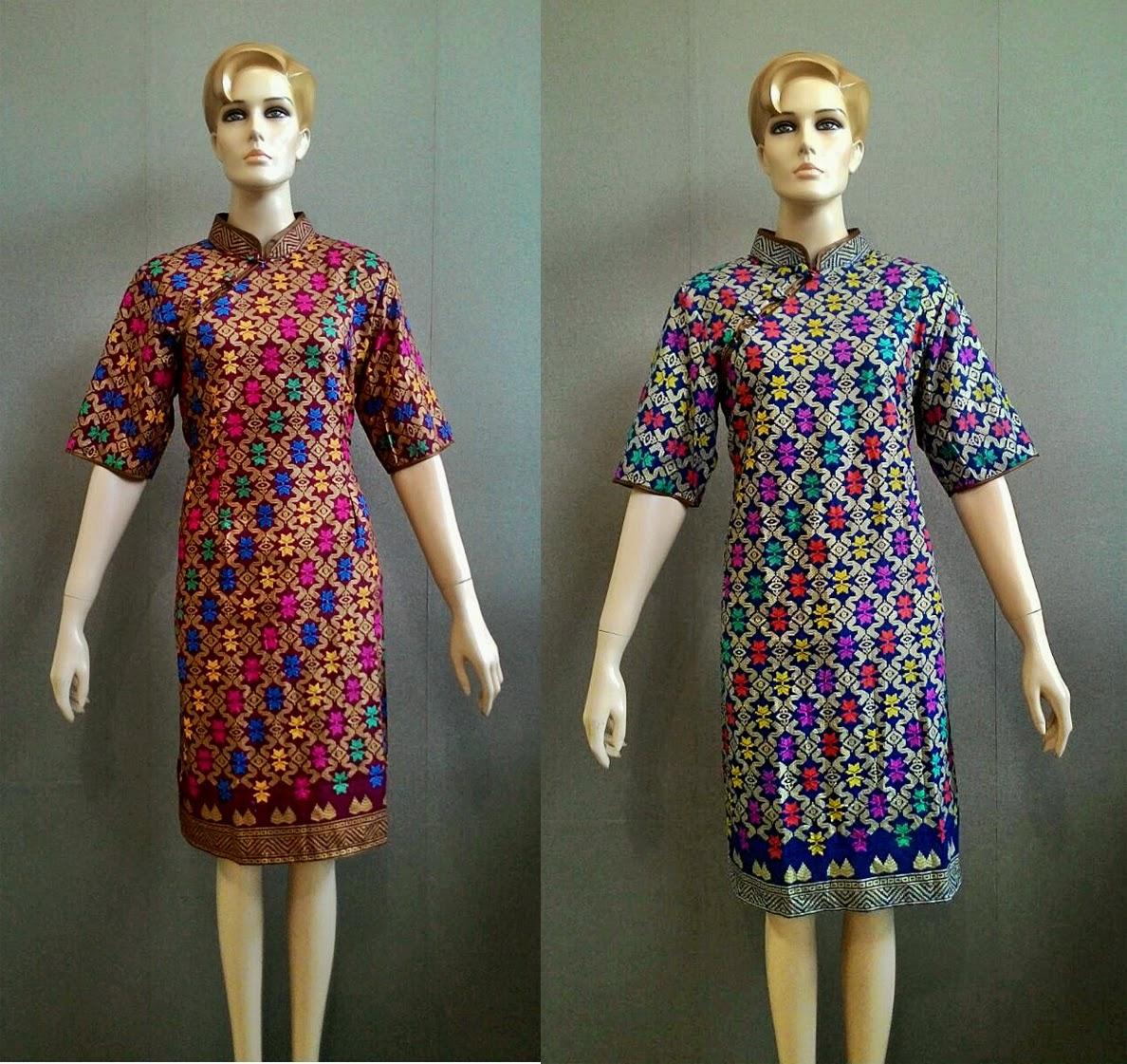 Model Baju Batik Modern Dress: Model Baju Batik Dress Cheongsam