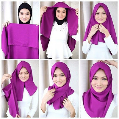 Tutorial-Hijab-segi-Empat