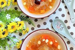 Papaya Snow Fungus Sweet Soup 木瓜雪耳糖水