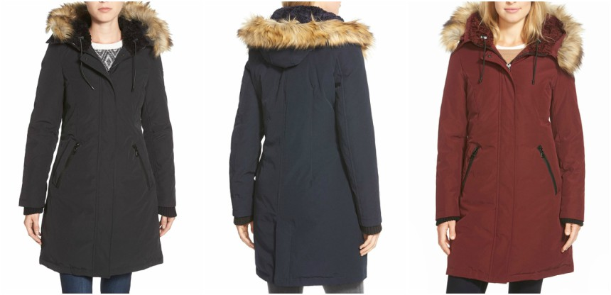 Vince Camuto Down and Feather Fill Parka with Faux Fur Trim for only $150 (reg $315)