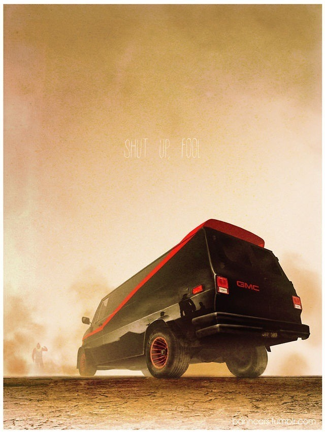 A-Team Van Illustration - Part of the Nicolas Bannister Cult Car Series