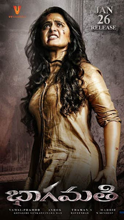 Poster Of Bhaagamathie 2018 Full Movie In Hindi Dubbed Download HD 100MB Telugu Movie For Mobiles 3gp Mp4 HEVC Watch Online