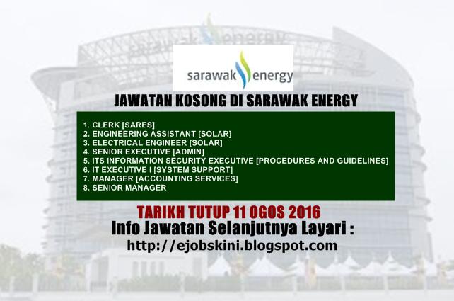 jawatan kosong di sarawak energy ogos 2016
