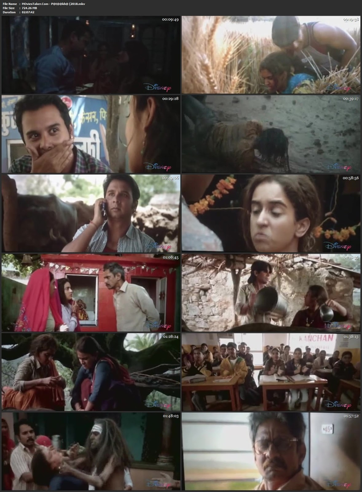 Pataakha 2018 Bollywood 300MB Movie pDVDRiap 480p