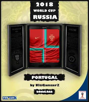 PES 6 Portugal Copa do Mundo FIFA 2018 Home Kit