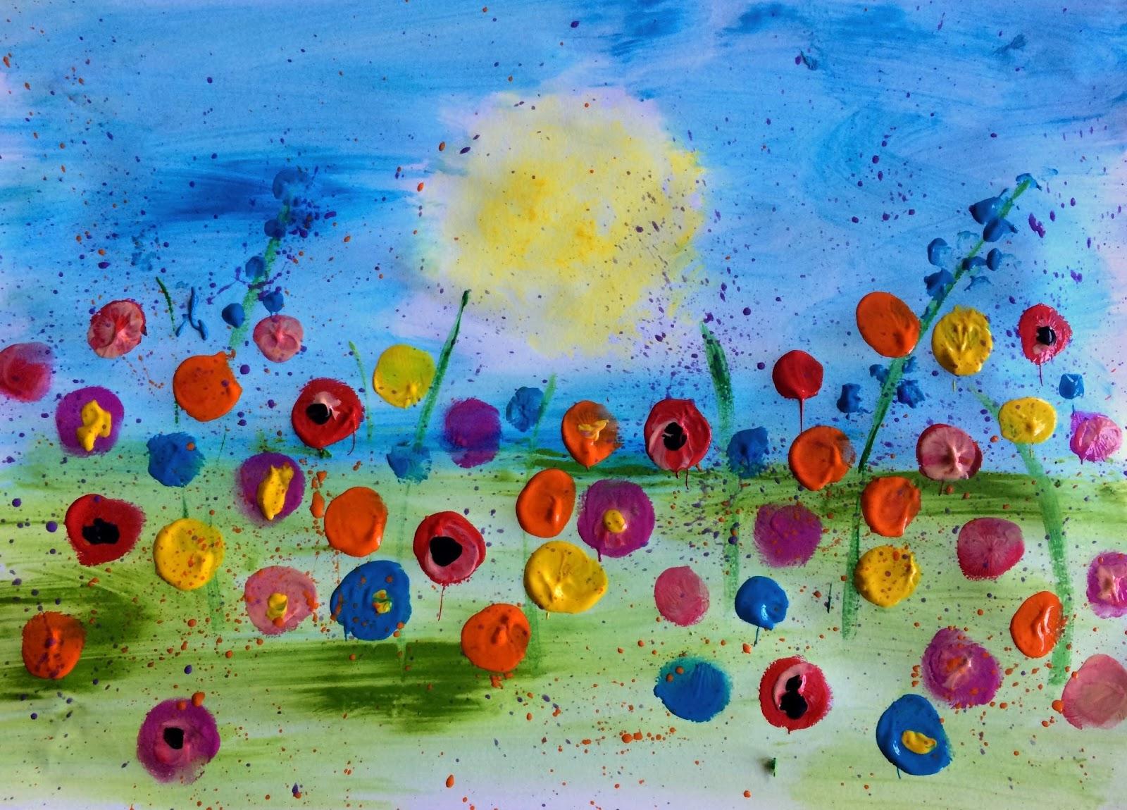 Câmp cu flori-dactilopictură