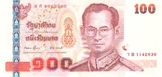 100 THB Note Thailand