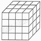 Sebuah balok yang tersusun dari kubus-kubus satuan, gabungan bangun ruang, soal matematika SMP UN 2017 no. 31
