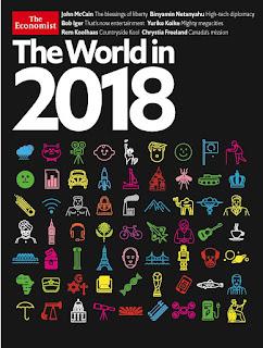 """LA NUEVA PORTADA DE """"THE ECONOMIST"""" TIENE UNAS ESCALOFRIANTES """"PREDICCIONES"""" PARA 2018. (PARTE I, EL COLOR AZUL)"""