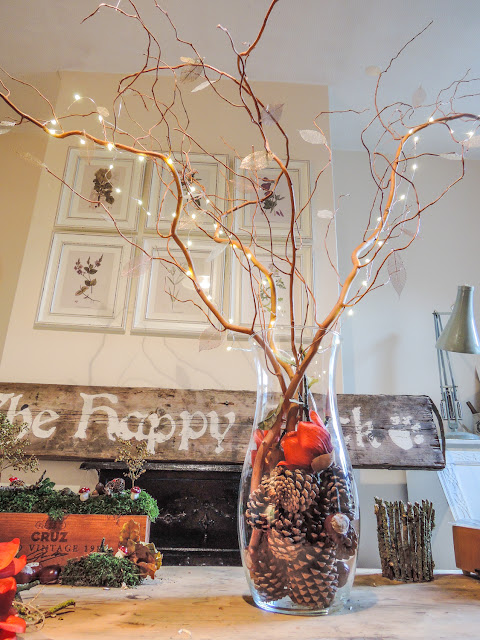 Decorative branches & fairy light tree centrepiece (for autumn, weddings, christmas & easter)