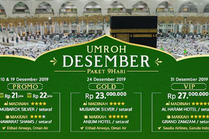 Paket Umroh 9 Hari December Tahun Baru 2019
