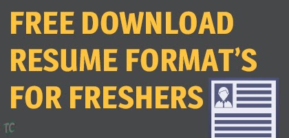download resume format for freshers
