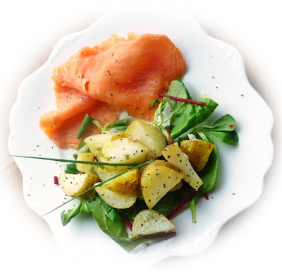 smoked salmon and potato salad