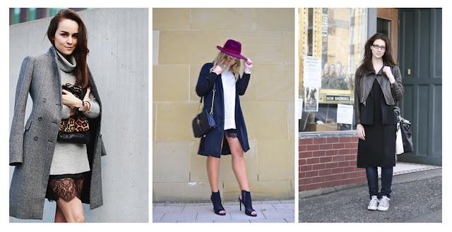 Платье-комбинация со свитером и пальто
