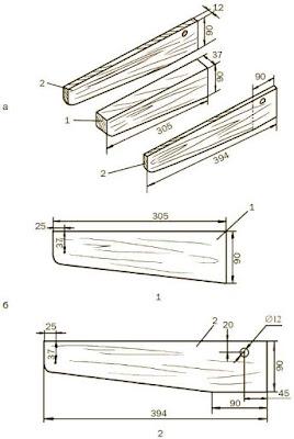 Чертеж кронштейнов для деревянного стеллажа