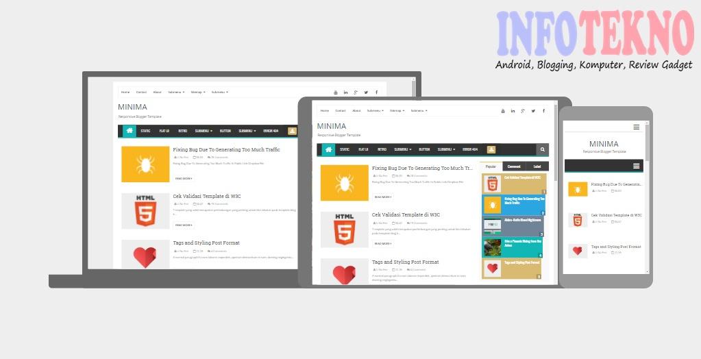 20 Template Blog Gratis Ringan dan Responsive Terbaru Blogspot ...