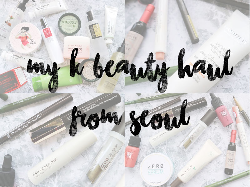 My Kbeauty Makeup and Skincare Haul from Seoul