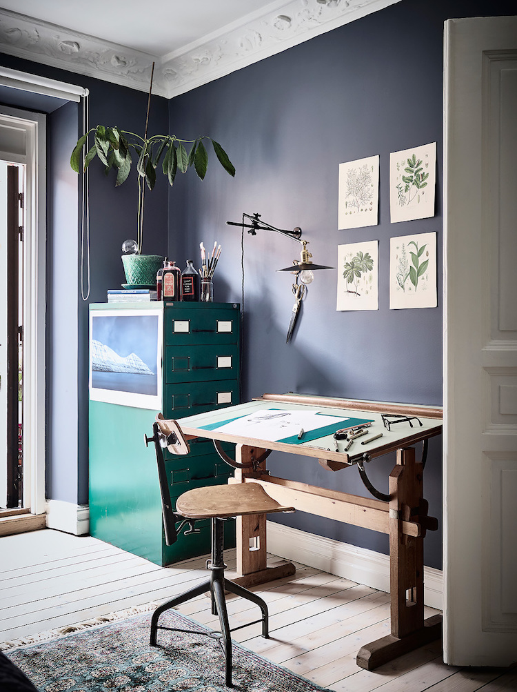 The beautiful, bold home of a Swedish graphic designer