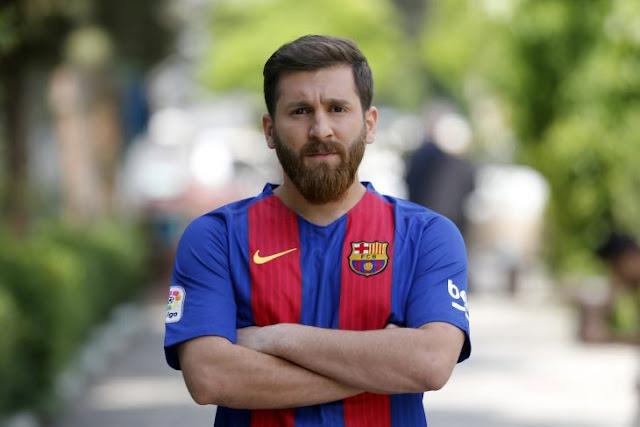 El doble iraní de Messi es tan parecido que su padre lo echó