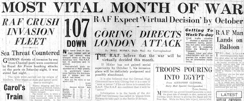 9 September 1940 worldwartwo.filminspector.com Daily Mail