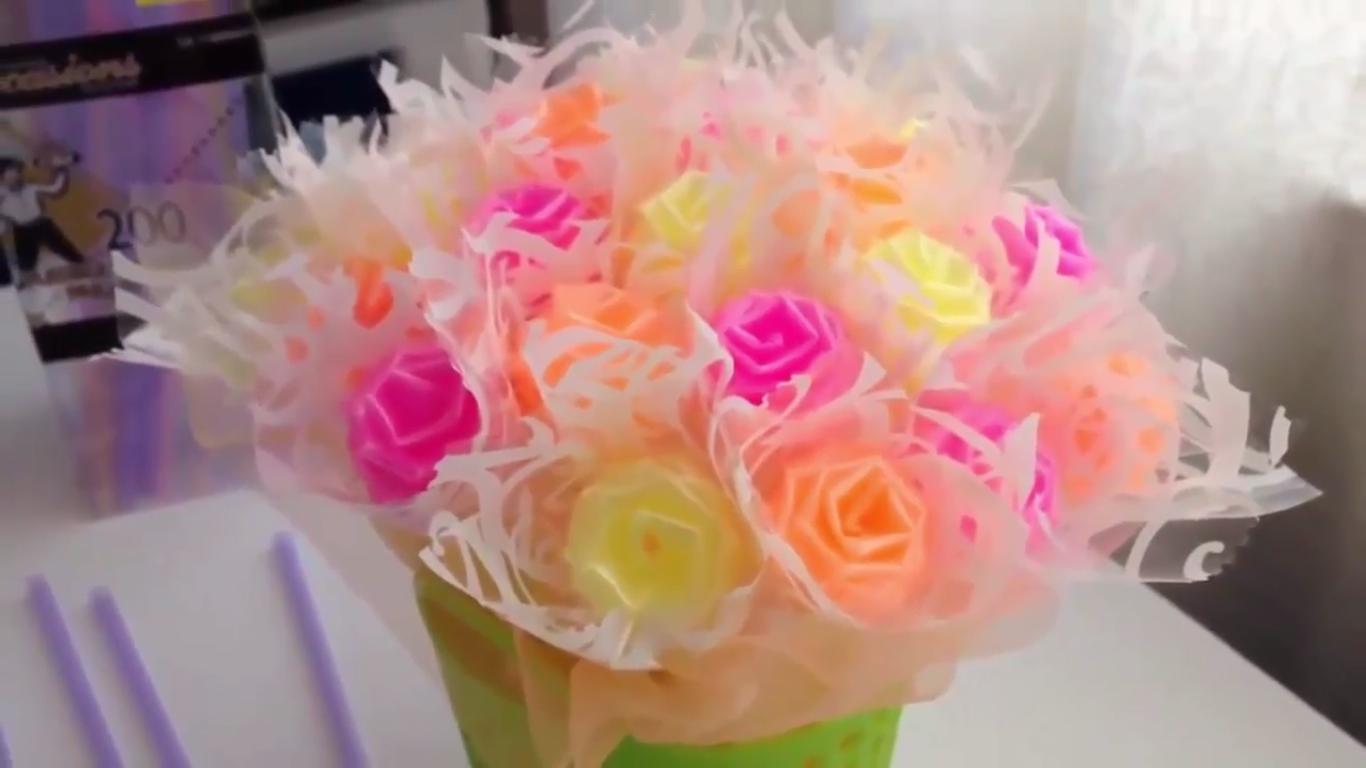 Cara Membuat Bunga Dari Sedotan Plastik Dunia Kreatif