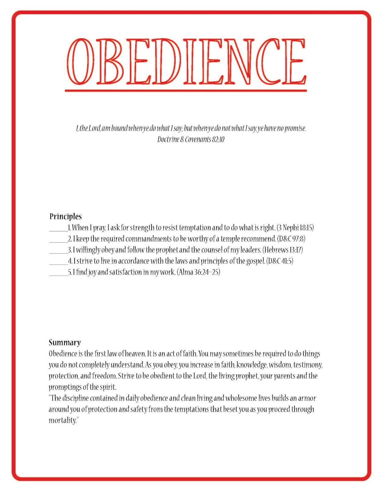 obedience summary Obedience to god in the old and new testaments relates to hearing or hearkening to a higher authority learn exactly why obeying god is so important.