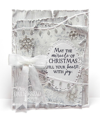 Our Daily Bread Designs Stamp Set: Merry & Bright, Our Daily Bread Designs Custom Dies:Christmas Lights, Snow Crystals, Ornate Ovals, Our Daily Bread Designs Paper Collection: Winter 2014