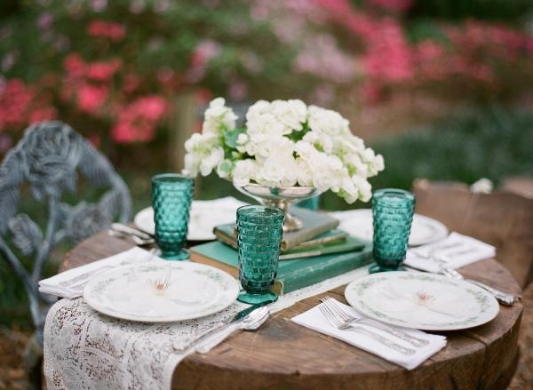 copas cristal verde boda