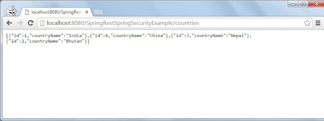 Spring Rest security success login
