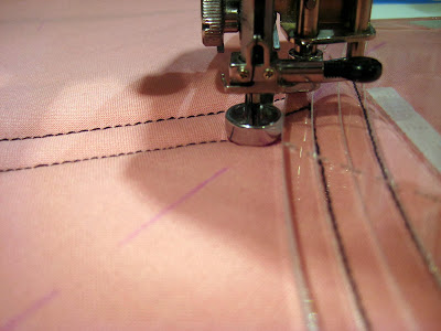 free motion quilting with Fine Line brand long arm rulers