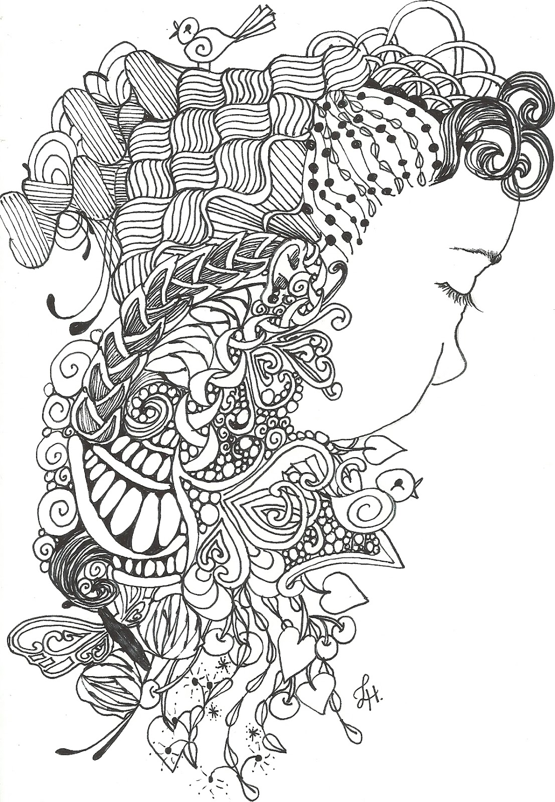 lorene digital diva another zentangle inspired art and a like me
