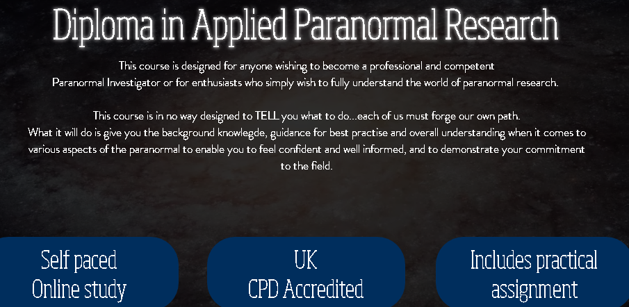 So Who Exactly Are The CPD, Who HD Paranormal Claim Accredits Their Course?