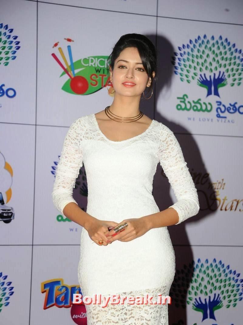 High Quality Shanvi Pics, Actress Shanvi Hot Sexy Pics in White Dress