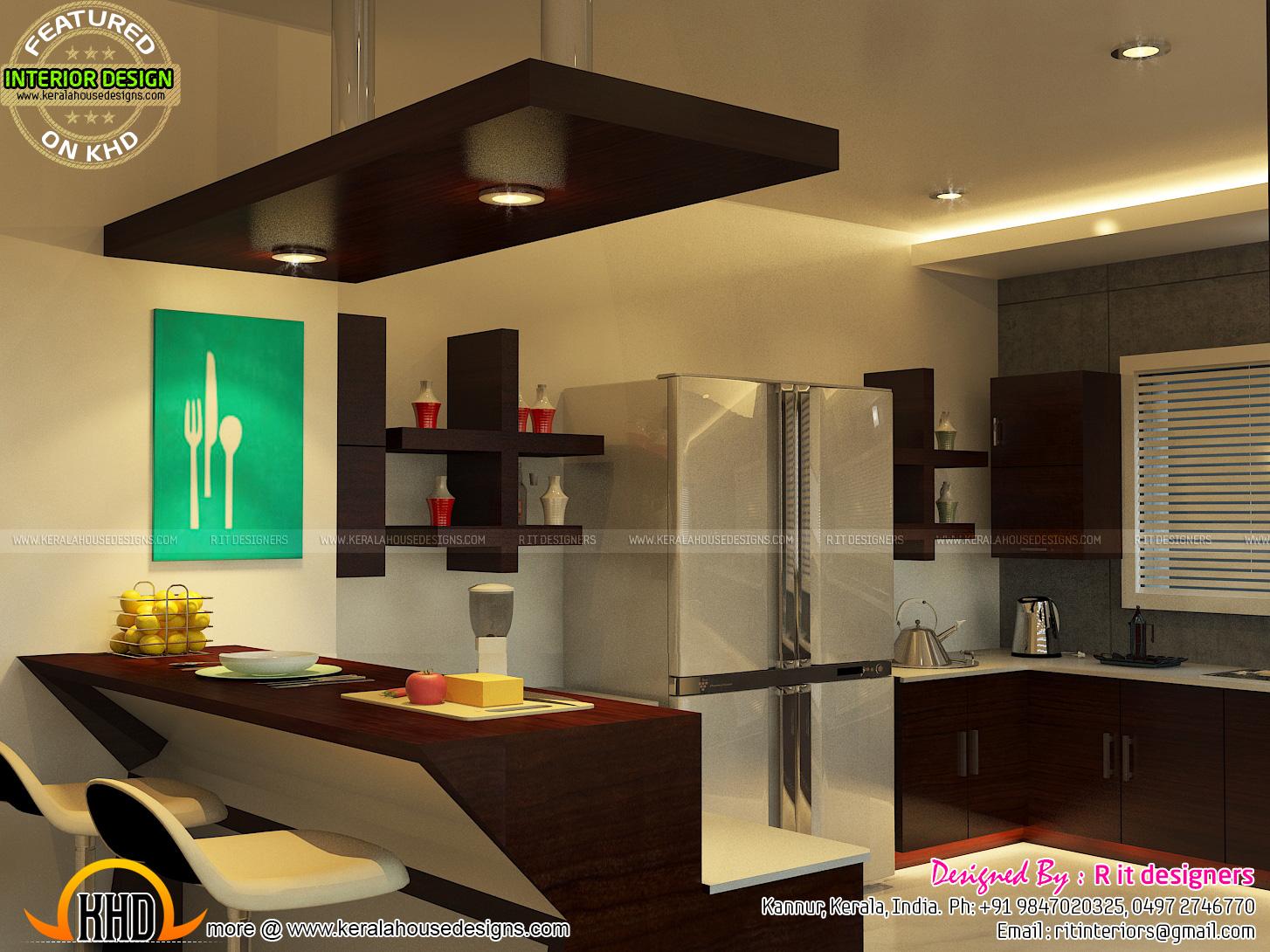 Open Kitchen Living Skylight Area Interior