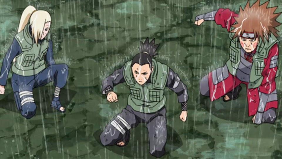 Ino, Shikamaru y Choji