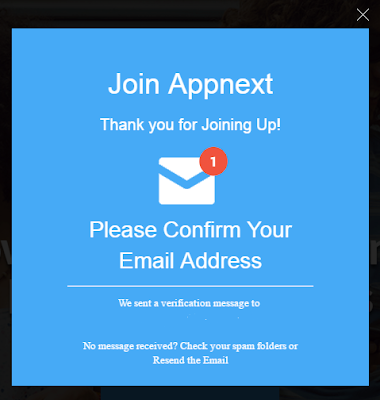 how to sign up at appnext 101helper