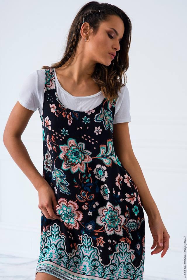 Vestidos cortos de moda 2018. Moda 2018 mujer argentina.