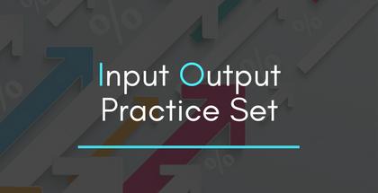 Input Output Practice Set