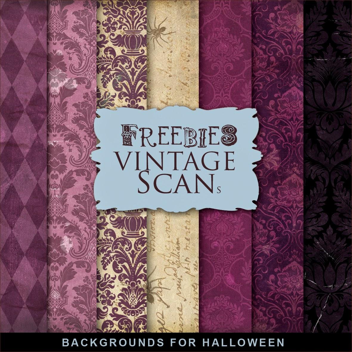 Freebies backgrounds kit glamorous halloween far far - Scrapbook background free printables ...