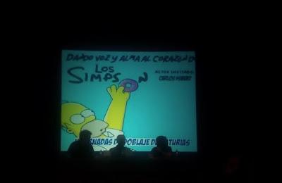 Carlos Ysbert doblando a los Simpsons