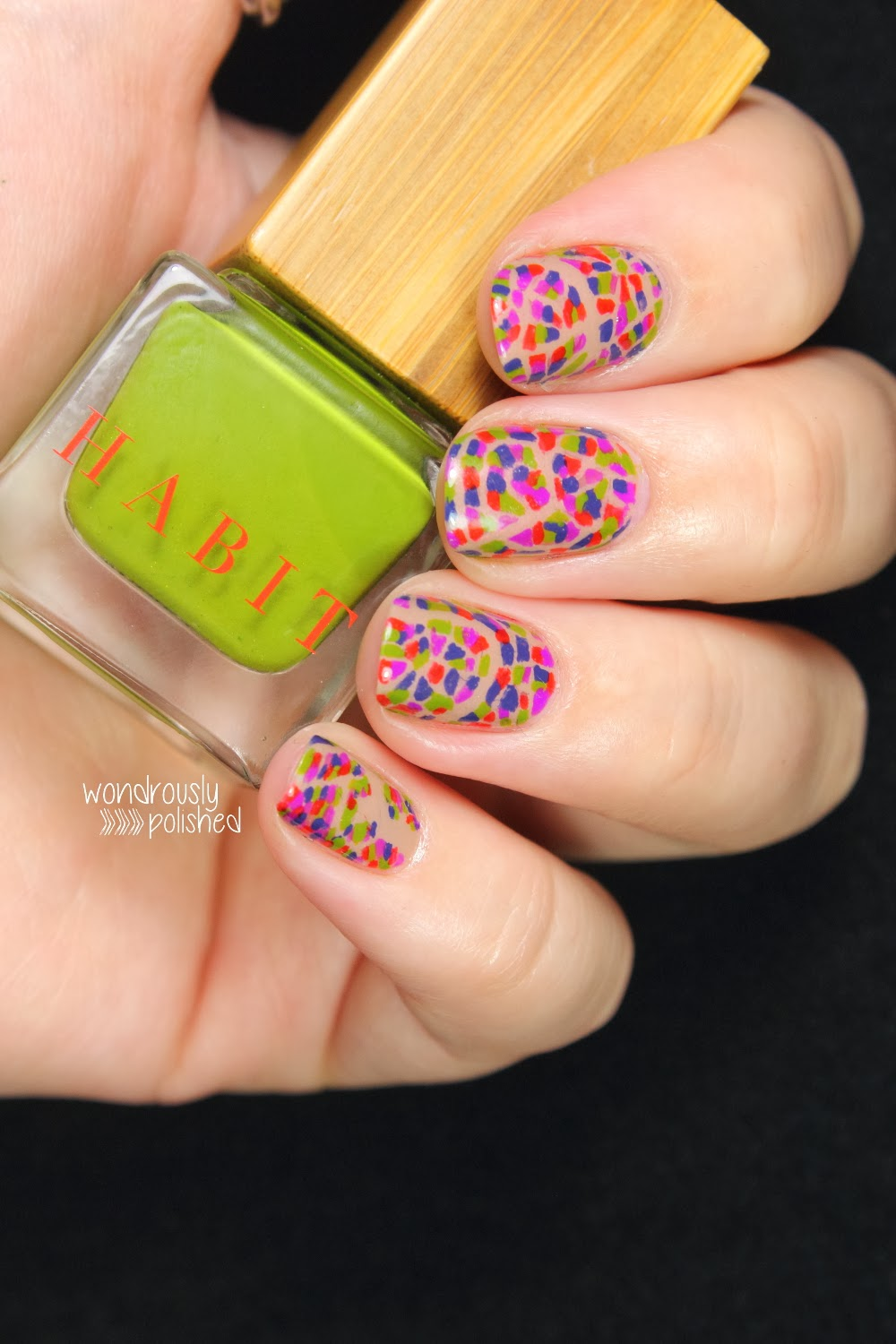 Wondrously Polished February Nail Art Challenge: Wondrously Polished: Habit Cosmetics